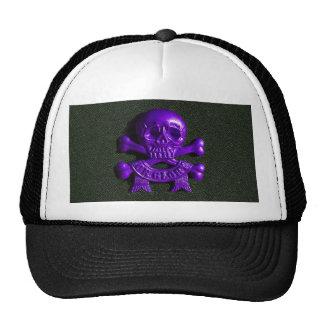 Purple Skull and Cross bones Cap