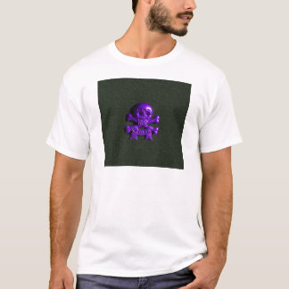Purple Skull and Cross bones T-Shirt
