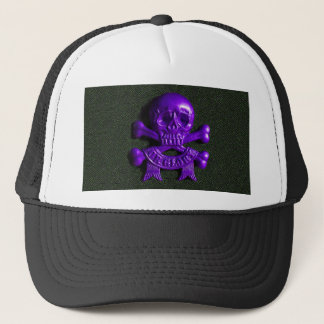 Purple Skull and Cross bones Trucker Hat