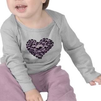 Purple Skull Heart Tshirts