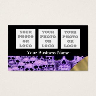 Purple skull pattern pattern company logo business card
