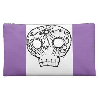 Purple skull pillow makeup bag