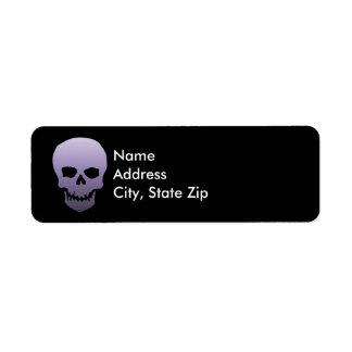 Purple Skull Return Address Label