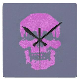 Purple skull wallclocks