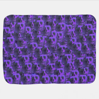 Purple Skulls Baby Blanket