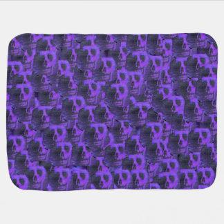 Purple Skulls Baby Blanket