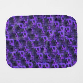 Purple Skulls Burp Cloths