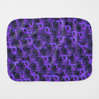 Purple Skulls Burp Cloths