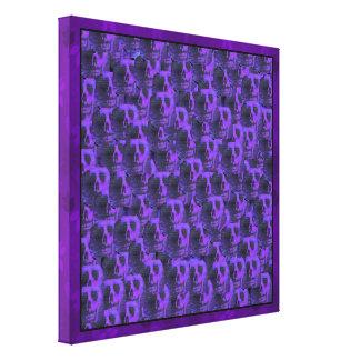 Purple Skulls Canvas Print