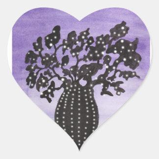 Purple Sky Baobab Heart Sticker