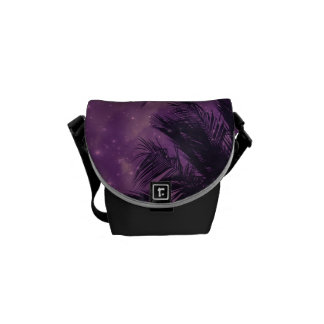 Purple Sky Palm Messenger Bag