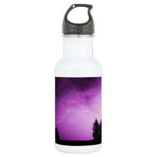 Purple Sky with Lightning 532 Ml Water Bottle