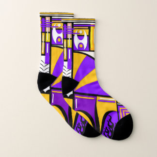 Purple Small All-Over-Print Socks 1