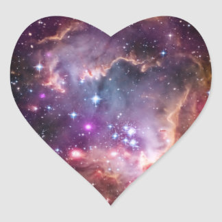 Purple Small Magellanic Cloud Heart Sticker