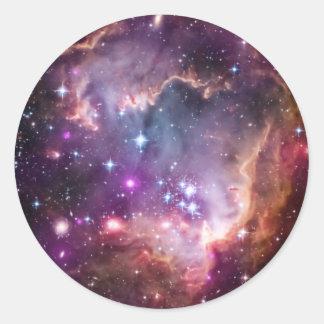 Purple Small Magellanic Cloud Round Sticker