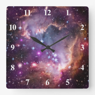 Purple Small Magellanic Cloud Square Wall Clock