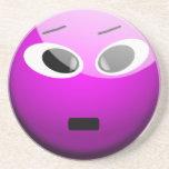 Purple Smiley Drink Coaster