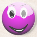 Purple Smiley Drink Coasters
