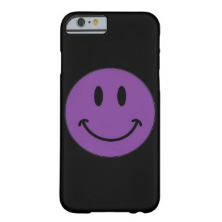 Purple Smiley Face (Customizable) Barely There iPhone 6 Case