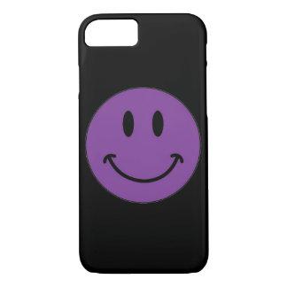 Purple Smiley Face (Customizable) iPhone 7 Case