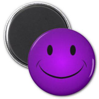 Purple Smiley Face Magnet