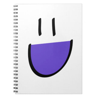 Purple Smiley Face Notebook (Ringed)