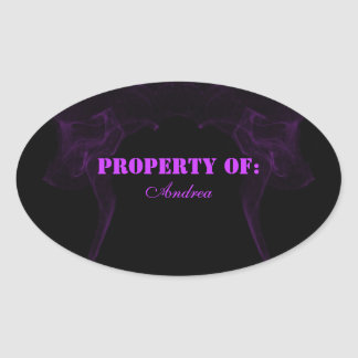 purple smoke sticker