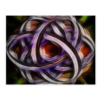 Purple smudge Triquetra Postcard
