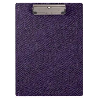 Purple Snake Skin Leather Clipboard
