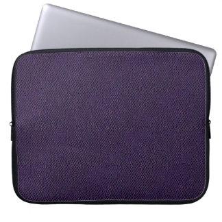 Purple Snake Skin Leather Laptop Computer Sleeves