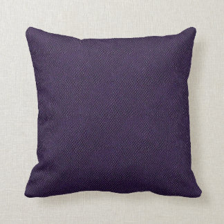 Purple Snake Skin Leather Throw Pillow