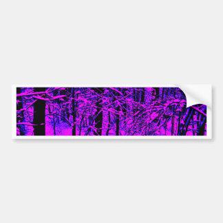 Purple Snow Bumper Stickers