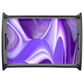 Purple Snow Flower Rainbow Dreams Serving Tray