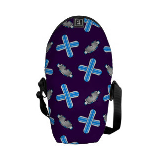 purple snowboard pattern courier bags