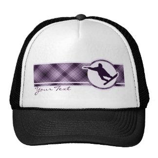 Purple Snowboarding Trucker Hat