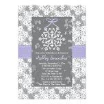 Purple Snowflake Bridal Shower Invitations
