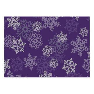 Purple Snowflake Business Card