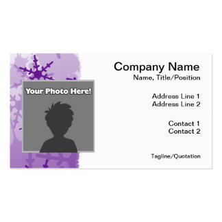 Purple Snowflake Pack Of Standard Business Cards