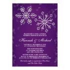 PURPLE SNOWFLAKE COUPLES WEDDING SHOWER CARD