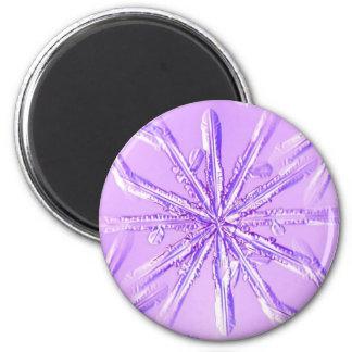 purple_snowflake refrigerator magnet
