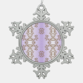 purple snowflake pewter christmas ornament