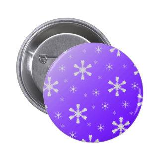 Purple Snowflakes Button