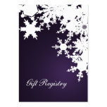 purple snowflakes Gift registry  Cards Business Card Template