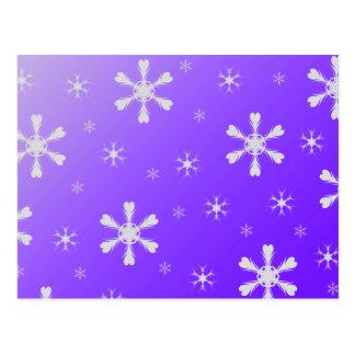 Purple Snowflakes Postcard