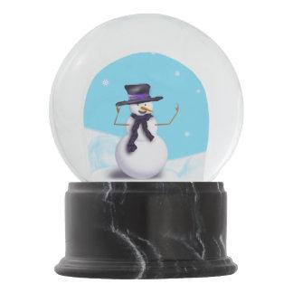 Purple Snowman Snow Globe