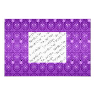 Purple snowmen trellis pattern art photo