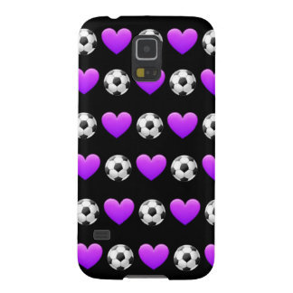 Purple Soccer Ball Emoji Samsung Galaxy S5 Case