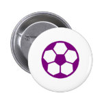 "Purple ""SOCCER BALL"" image Button"