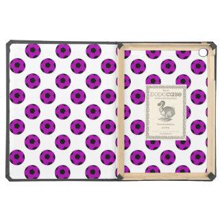 Purple Soccer Ball Pattern iPad Air Cases