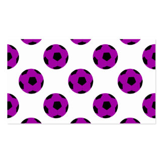 Purple Soccer Ball Pattern Pack Of Standard Business Cards
